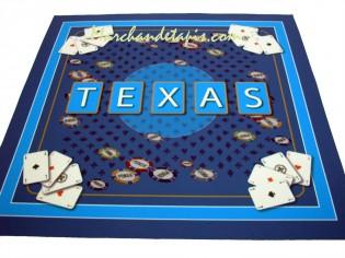 Tapis pour jeux de cartes, Texas bleu