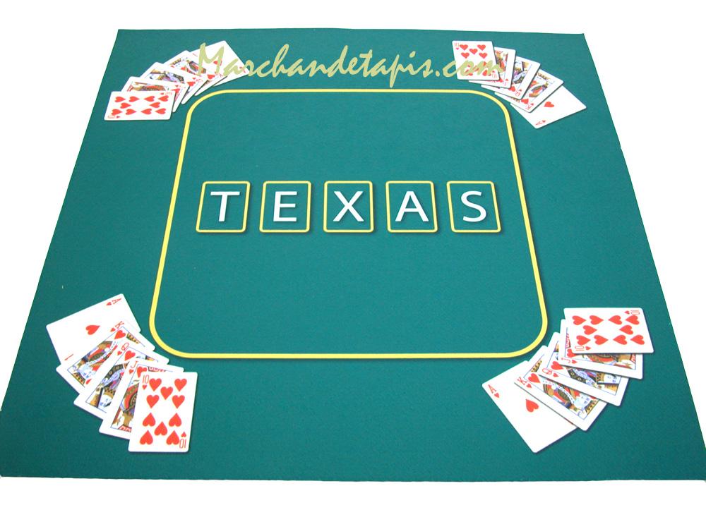 tapis pour jeux de cartes texas vert marchand de tapis. Black Bedroom Furniture Sets. Home Design Ideas