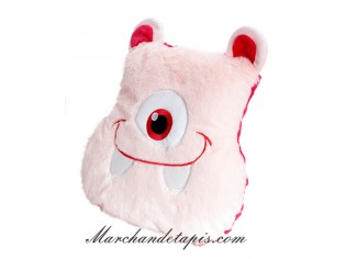Coussin Peluche Monstre Rose clair - Taille 30cm