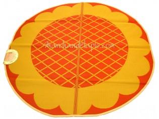 Tapis enfant Jaune Orange Plastique Rond 174cm