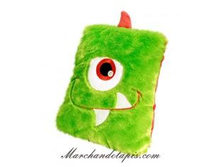 Coussin Peluche Monstre Vert - Taille 30cm