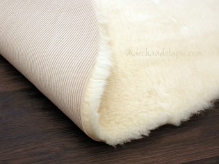 Tapis laine rond, Naturel, 140cm .