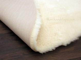 Tapis laine 70cmx110cm Forme Peau Naturel
