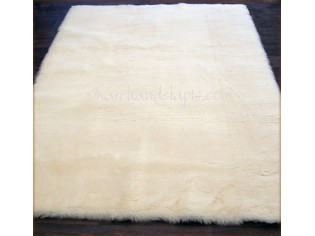 Lot de 2 tapis pure laine vierge 70cmx140cm. Naturel