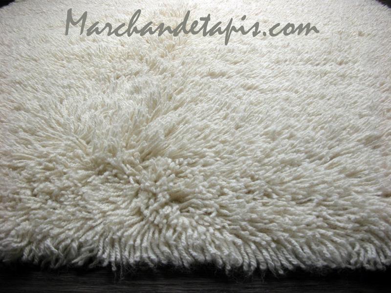 tapis shaggy pure laine vierge 160cm x 230cm flokos. Black Bedroom Furniture Sets. Home Design Ideas