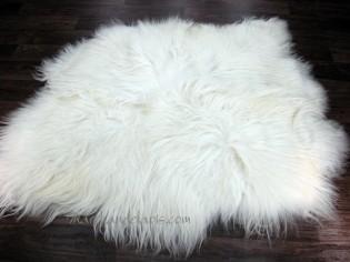 Tapis peau de mouton, 2 peaux, Blanc Naturel