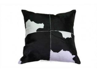 Coussin peau de veau 40x40cm Noir et Blanc