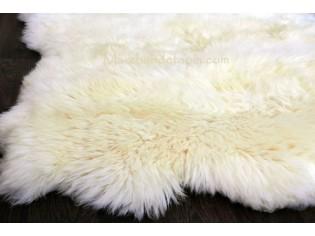 Tapis peau de mouton, 4 peaux, Blanc Naturel - Origine UK