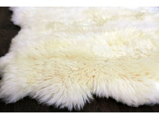 Tapis peau de mouton, 5 peaux, Blanc Naturel - Origine UK