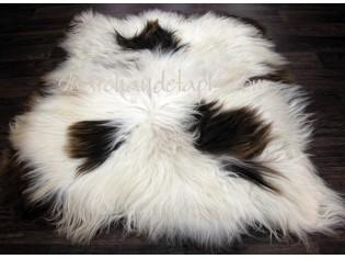 Tapis peau de mouton, 5 peaux, Mix Color Naturel