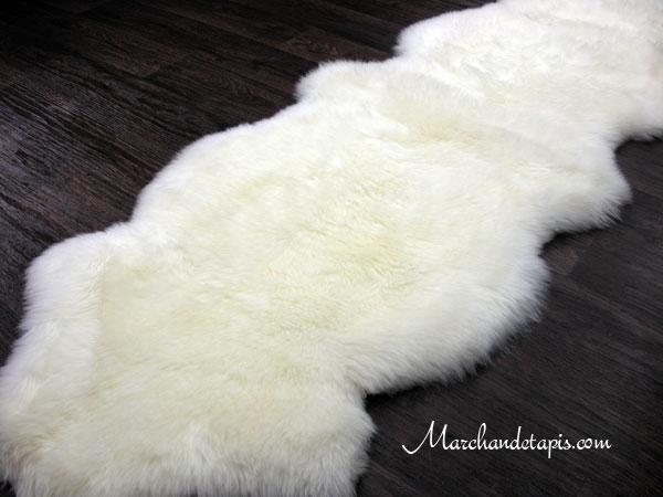 tapis peau de mouton duo merinos qualit origine australie s lection par marchand de tapis. Black Bedroom Furniture Sets. Home Design Ideas