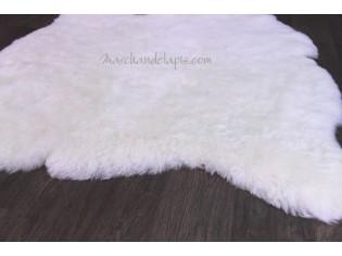 Tapis peau de mouton, 2 peaux, Blanc Naturel - Poils courts