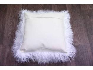 Coussin agneau du tibet Blanc 40cmx40cm