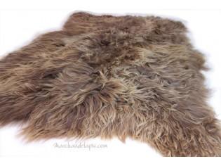 Tapis peau de mouton, 4 peaux, Marron rustique