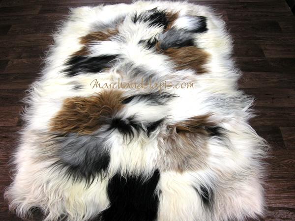 tapis peau de mouton taille 3 peaux mix mix tannage cologique slection marchand de tapis. Black Bedroom Furniture Sets. Home Design Ideas
