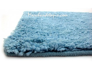 Tapis Shaggy Bain Bleu 55cm x 85cm