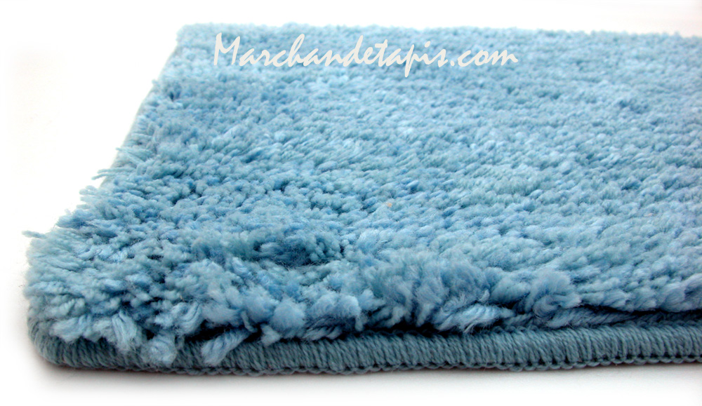 tapis shaggy bain bleu 55cm x 85cm marchand de tapis. Black Bedroom Furniture Sets. Home Design Ideas