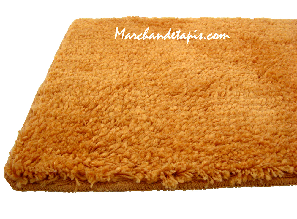 tapis shaggy bain orange 55cm x 85cm marchand de tapis. Black Bedroom Furniture Sets. Home Design Ideas