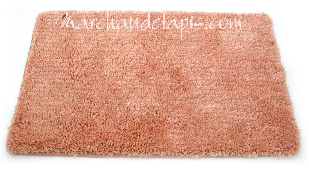 tapis shaggy bain saumon 55cm x 85cm marchand de tapis. Black Bedroom Furniture Sets. Home Design Ideas