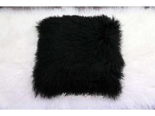 Coussin agneau du tibet Noir 40cmx40cm
