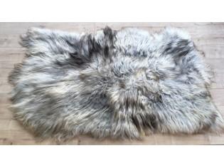 Tapis peau de mouton, 4 peaux, Gris naturel - TPM-IS-4P-GN-PL-0418