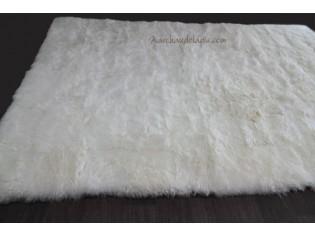 Tapis peau de mouton MixMix Blanc 160cmx220cm