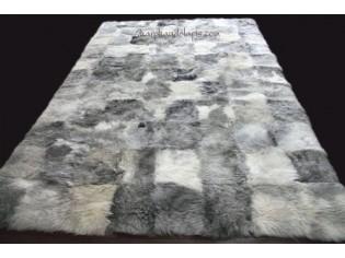 Tapis peau de mouton MixMix Gris 160cmx220cm