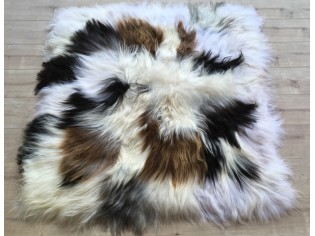 Tapis peau de mouton MixMix Poils longs Mélange 120cm x 120cm