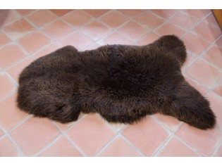 Peau de mouton UK - Marron naturel - 110/120cm - 15