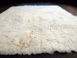 Lots de 2 Flokati pure laine vierge 140cmx200cm - 3000gr