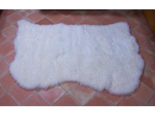 Tapis peau de mouton, 3 peaux, Blanc Naturel - Poils courts