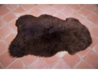 Peau de mouton UK - Marron rustique naturel - 110/120cm - 0421-1
