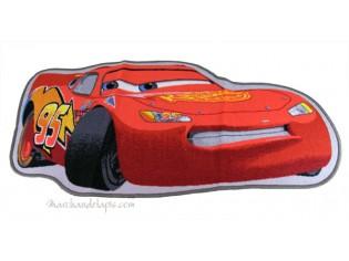 Tapis enfant Disney Cars forme voiture, 67x134cm