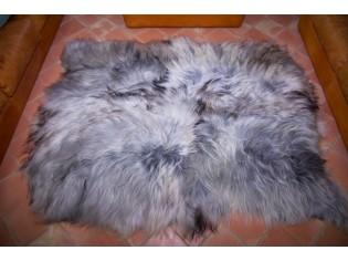 Tapis peau de mouton, 5 peaux, Gris naturel - 01