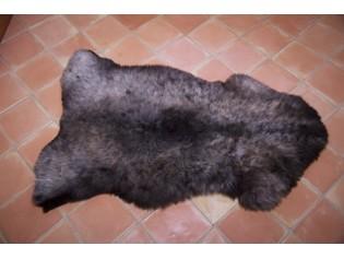 Peau de mouton UK - Marron rustique naturel - 120/130cm - 0421-5