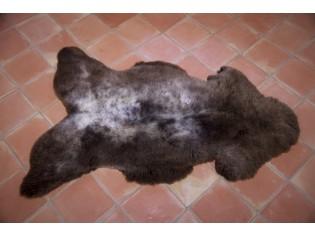Peau de mouton UK - Marron rustique naturel - 120/130cm - 0421-4