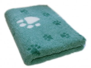 Tapis chien Drybed® antidérapant VERT GROSSES PATTES MAGNOLIA