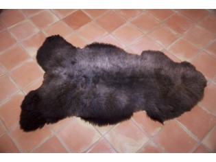 Peau de mouton UK - Marron rustique naturel - 120/130cm - 0421-9