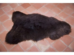 Peau de mouton UK - Marron rustique naturel - 110/120cm - 0421-10