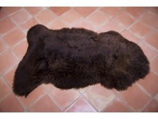 Peau de mouton UK - Marron rustique naturel - 110/120cm - 0421-11