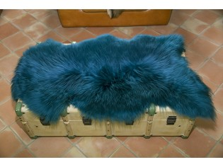 Peau de mouton. Turquoise - 110-120cm
