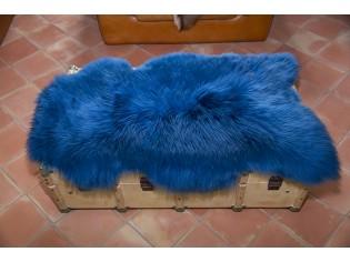 Peau de mouton. Bleu - 110-120cm