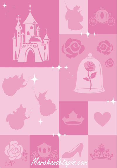 tapis enfant disney princesse 133x190cm tapis enfant disney slection marchand de tapis. Black Bedroom Furniture Sets. Home Design Ideas