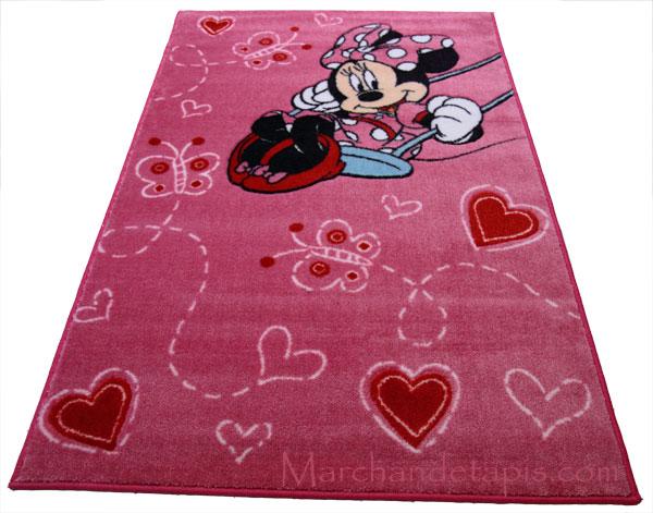 Tapis enfant Minnie Balanoire, 100x150cm - Tapis enfant Disney ...