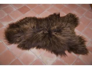 Peau de mouton Islande Poils longs Marron rustique naturel - 120/130cm 0 17