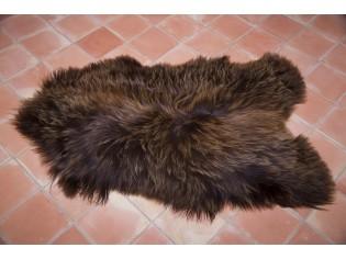 Peau de mouton Islande Poils longs Marron rustique naturel - 120/130cm 0 19