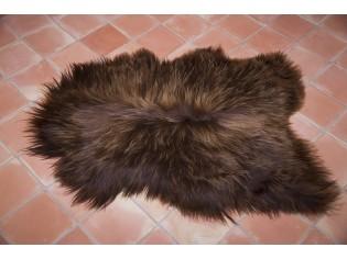 Peau de mouton Marron rustique naturel IS-MRN-1-21