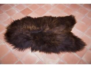 Peau de mouton Marron rustique naturel IS-MRN-1-24