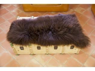 Peau de mouton UK - Marron rustique naturel - 110/120cm - 0421-52