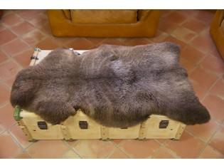 Peau de mouton UK - Marron rustique naturel - 110/120cm - 0421-53